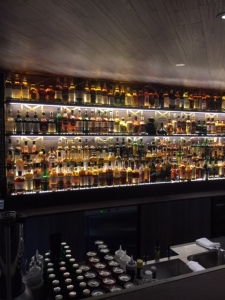 Just half of the whiskey selection